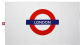 "London Underground Cotton Tea Towel  with ""London"" logo 740mm x 430mm (gwc)"